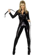 Marvel Comics Black Cat Shiny Metallic Superhero Costume