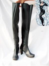 Black Cat Female Black Superhero Boots