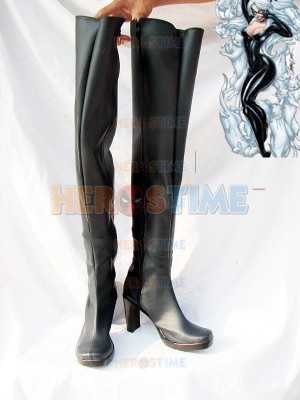 Marvel Comics Black Cat Superhero Boots