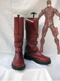 Daredevil Red Superhero Cosplay Boots