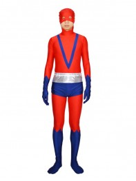 Red & Blue Giant Man Spandex Superhero Costume