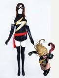 Marvel Comics Ms. Marvel Shiny Metallic Superhero Costume