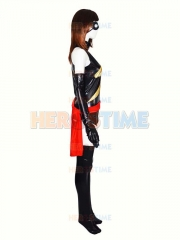 Marvel Comics Ms. Marvel Shiny Metallic Superhero Costume