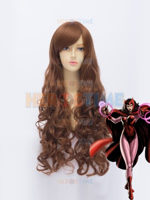 Female Scarlet Witch Brown Superhero Wig