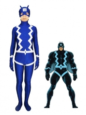 Marvel Comics The Black Bolt Blue Spandex Superhero Costume