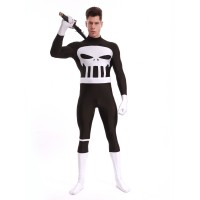 Adult Punisher Spandex Superhero Costume