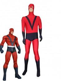 Red & Navy Blue Giant Man Spandex Superhero Costume
