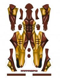 Sabretooth Victor Creed Cool 3D Printing Superhero Costume