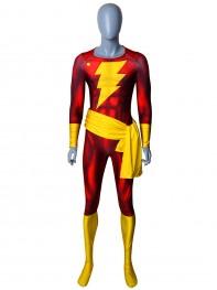 Captain Marvel Shazam Printed Superhero Costume