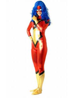Spider-Woman Shiny Metallic Superhero Costume