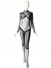 Newest Grery Spider-woman Spandex Superhero Costume