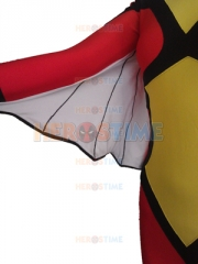 Red & Yellow Spider-Woman Spandex Superhero Costume