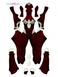 Ultimate Spider-woman Costume 3D Printing DyeSub Superhero Costume