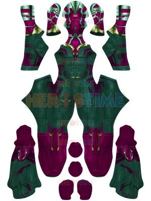 Vision Suit Wandavision Version Superhero Costume