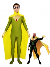 Marvel Comics The Vision Jonas Spandex Superhero Costume
