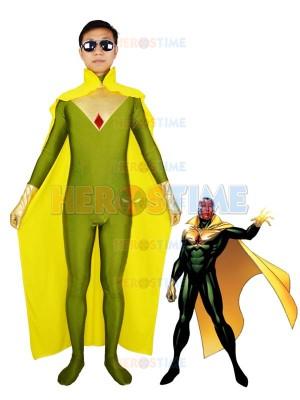 Superhero The Vision Jonas Spandex Superhero Costume