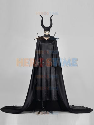 Classic Maleficent Black Gown Cosplay Costume