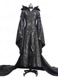 Newest Maleficent Deluxe Black Girls Dress Cosplay Costume