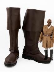 Star Wars Mace Windu Brown Cosplay Boots