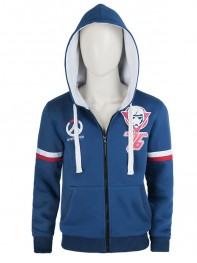 2017 New Style Overwatch Blue Hoodie