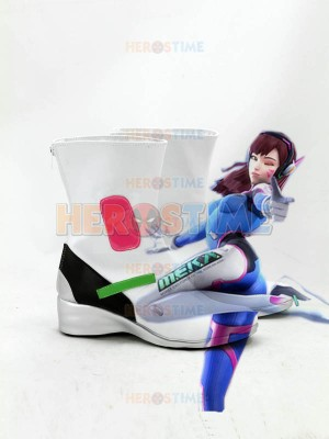 Overwatch D.VA White Cosplay Boots