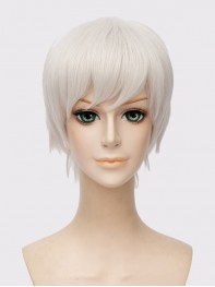 Overwatch Soldier 76 Silver Short Wig