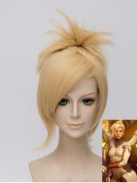 Overwatch Mercy Angela Ziegler Girls Cosplay Wig
