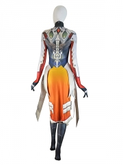 Overwatch Mercy Costume Armored W Strips Girl Game Cosplay Suit