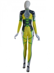 Overwatch D.VA Lemon Lime Costume Game Girl Cosplay Suit