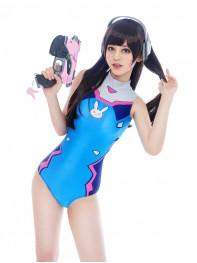 Video Game Overwatch D.Va Cosplay Swimsuit