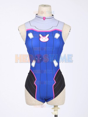 Video Game Overwatch D.Va Half-backless Cosplay Swimsuit