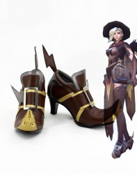 Overwatch Witch Mercy Cosplay Boots