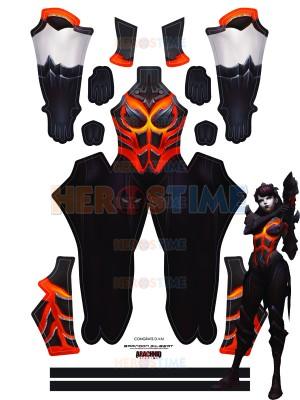 Overwatch D.Va Costume Destroyer Fuel Printed Costume