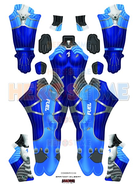 overwatch d va costume d va dallas fuel printed costume