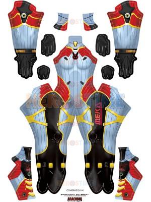 Overwatch D.Va Carbon Fiber Skin Printed Cosplay Costume