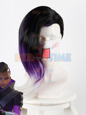 Overwatch Girl Cosplay Sombra Cosplay Wig