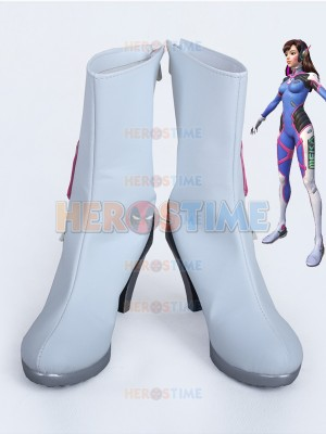 Overwatch D.Va Custom White High Heels Cosplay Boots