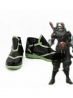 Overwatch Genji Ghost Skin Black Cosplay Shoes