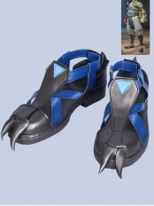 Overwatch Shimada Hanzo Video Game Blue Version Cosplay Boots