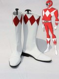 Red & White Zyuranger Power Ranger Superhero Boots