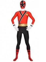Shinken Red Shinkenger Power Ranger Spandex Superhero Costume