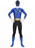 Shinken Blue Shinkenger Power Ranger Spandex Superhero Costume