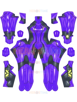 Samus Zero Cosplay Costume Purple Samus Zero Girls' Costume