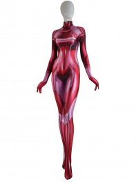 Samus Zero Costume Red Color 3D Printed Girl Cosplay Suit