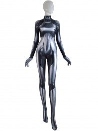 Samus Zero Costume Gray Color 3D Printed Girl Cosplay Suit