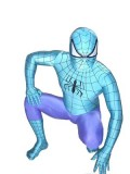 Blue & Purple Spiderman Spandex Superhero Costume
