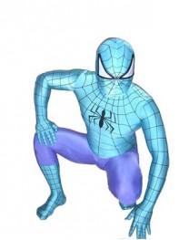Blue & Purple Spiderman Spandex Superhero Costume