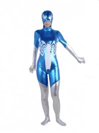 Blue & Silver Vemon Shiny Metallic Super Villain Costume