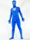 Blue & White Stripes Spiderman Spandex Superhero Costume
