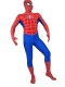Classic White Stripes Spiderman Superhero Costume